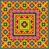 vector square background with a mexican ornament poster