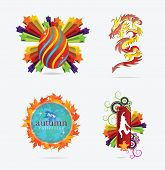concepts creative sign and emblems set isolated poster