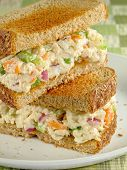 Chicken salad sandwich with toasted wheat bread. poster