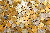 Background of pile of a many coins poster