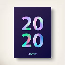 2020 New Year Card. Greeting Card, Modern Covers Design