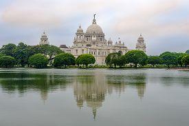 View At The Victoria Memorial In Kolkata - West Bengal,india