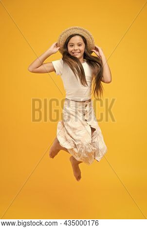 Energetic Cheerful Active Child Enjoy Vacation. Summer Vacation Outfit. Good Vibes. Active Summer. T
