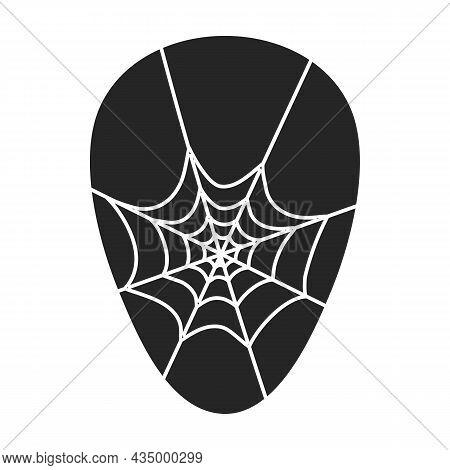 Pick Guitar Vector Black Icon. Vector Illustration Plectrum On White Background. Isolated Black Illu