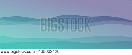 Abstract Waves Fluid Line Modern Gradient Background Combined Pale Colors. Trendy Template For Broch