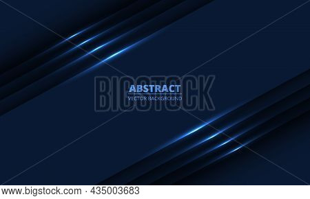 Dark Blue Geometric Background With Diagonal Glowing Light Lines And Shadows For Presentation Backgr