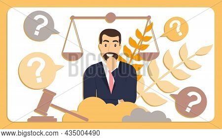 Correct Court Decision. The Man Reflects On The Court Decision, And He Has Questions. Equal Balance