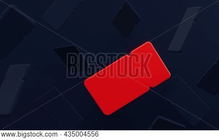 Dark Blue Background Of Coupons. With One Bright Red Coupon. For Black Friday