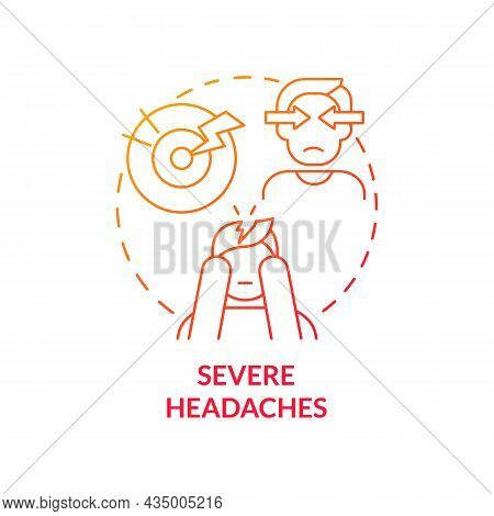 Severe Headaches Concept Icon. Hypertension Symptom Abstract Idea Thin Line Illustration. High Blood