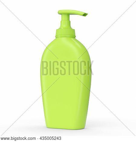 Green Sunscreens Bottle Or Sunblock Cream Tube Isolated On White Background.