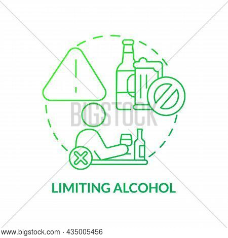 Limiting Alcohol Concept Icon. Hypertension Prevention Tip Abstract Idea Thin Line Illustration. Mod