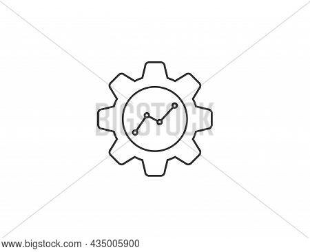 Analysis, Kpi Icon. Vector Illustration. Flat Design.