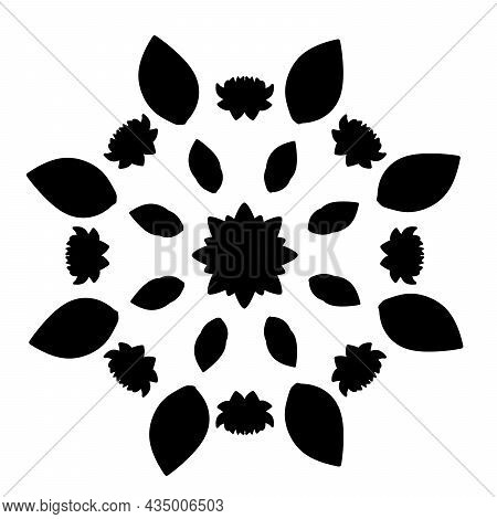 Silhouettes Of Traditional Clay Oil Lamps. Diwali Traditional Indian Festival. Illustration Symbol I