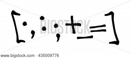 Graffiti Spray Font Alphabet With A Spray In Black Over White. Vector Illustration. Part 10