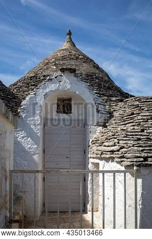 Trulli Village In Alberobello, Italy. The Style Of Construction Is Specific To The Murge Area Of The
