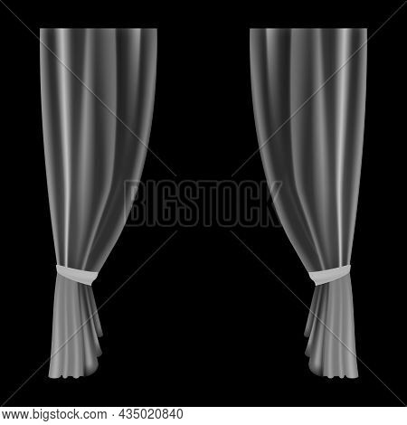 Curtains Transparent. Waves Bobbinet Curtain For Window Decoration. Realistic Flowing Lightweight Dr
