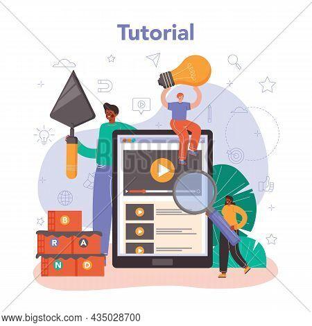 Brand Management Online Service Or Platform. Manager Developing