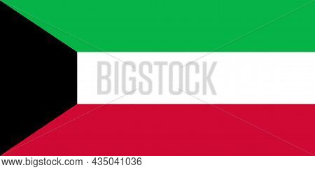 The National Flag Of Kuwait A Is A Country In Western Asia
