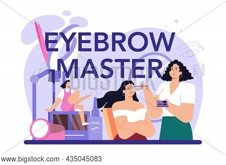 Eyebrow Master Typographic Header. Master Making Perfect Eyebrows