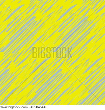 Abstract Seamless Pattern, Bright Yellow Flourish. Abstract Decoration Pattern For Textile And Packa