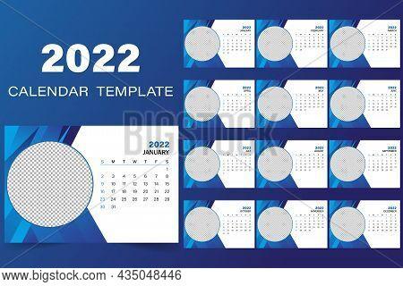 Desktop Calendar For 2022, Clean Calendar Design For 2022, Professional Desktop Calendar Design, The