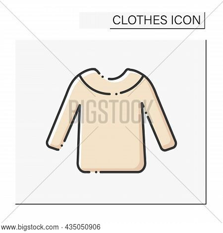 Fashion Color Icon. Cozy Winter Sweater. Warm Clothing. Shopping..clothes Concept. Isolated Vector I