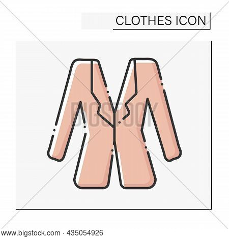 Fashion Color Icon. Trendy Blazer. Fashionable Jacket. Shopping.clothes Concept. Isolated Vector Ill