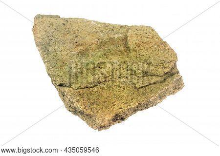Limestone Stone On A White Isolated Background