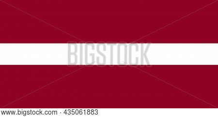 The National Flag Of Latvia Is A Country On The Baltic Sea Between Lithuania And Estonia