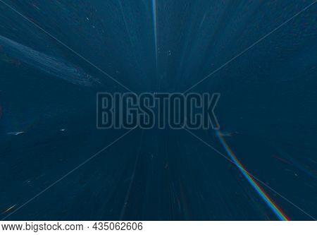 Glitch Overlay. Lens Flare Noise. Digital Distortion Frame. Old Film Texture. Dark Blue Distressed S