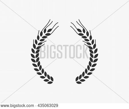 Agriculture Wheat Vector Icon Design Template. Wheat Grain Template, Food Agriculture, Healthy Nutri