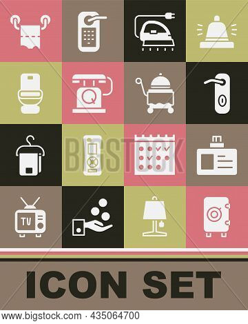 Set Safe, Identification Badge, Door Handle, Electric Iron, Telephone Handset, Toilet Bowl, Paper Ro
