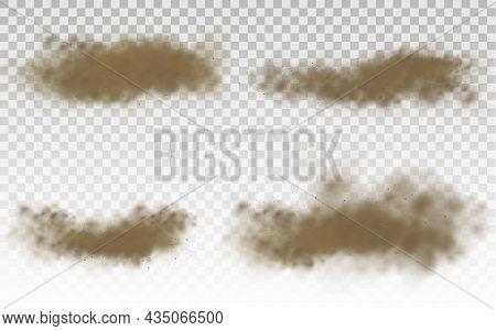 Flying Sand, Brown Dust Cloud, Wind, Sandstorm.