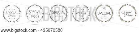 Special Price Grey Laurel Wreath Label Set