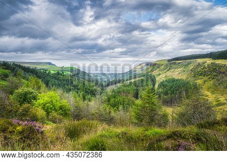Beautiful Green Valley With Forests And Fields. Glenariff Forest Park, The Queen Of The Glens, Is On