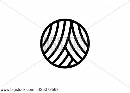 Woven Circle Logo. Can Be Used For The Letter A Logo.