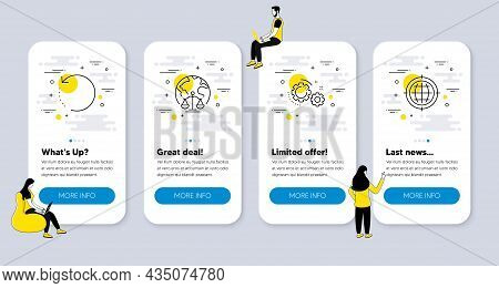 Vector Set Of Technology Icons Related To Magistrates Court, Recovery Data And Gears Icons. Ui Phone