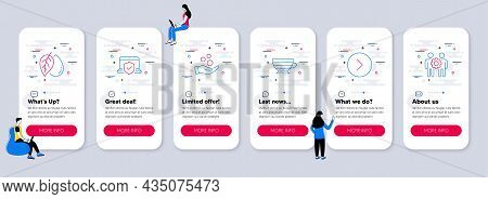 Set Of Line Icons, Such As Cappuccino, Laptop Insurance, Donation Money Icons. Ui Phone App Screens