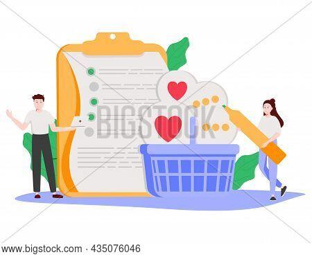 Customer Relationship Management Abstract Concept Vector Illustration Set. Consumer Demand, Customer