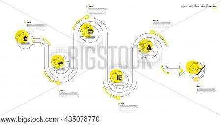 Trade Infographic Timeline With 5 Steps. Shopping Process Diagram With Discounts Tag, Shop, Payment
