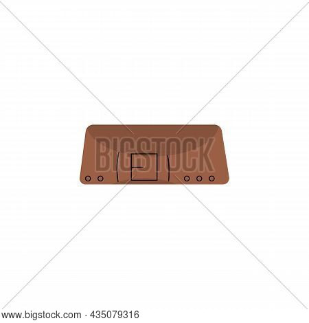 Leather High Wide Belt Or Safety Waistband, Flat Vector Illustration Isolated.