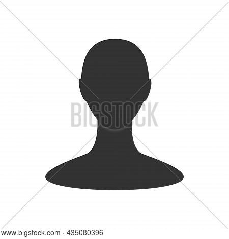 Gender Neutral Profile Avatar. Front View Of An Anonymous Person Face
