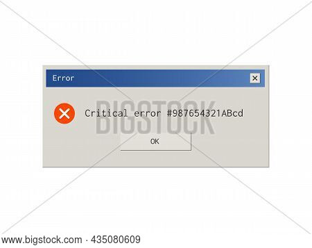 Retro Style Error Message Pop Up Window.