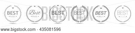 Best Music Award Grey Laurel Wreath Vector