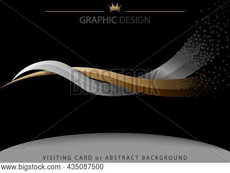 Abstract Background With Two Intertwined Stripes - Modern Illustration For Graphic Design Or Visitin