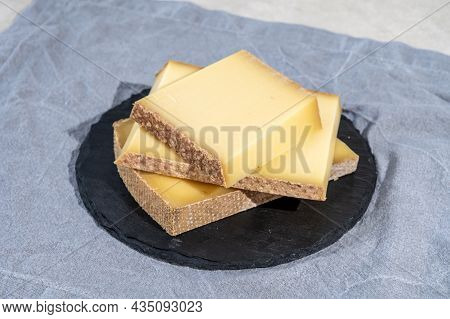 Cheese Collection, Hard French Cheese Comte Made From  Cow Milk With Rind In Franche-comte Region, F