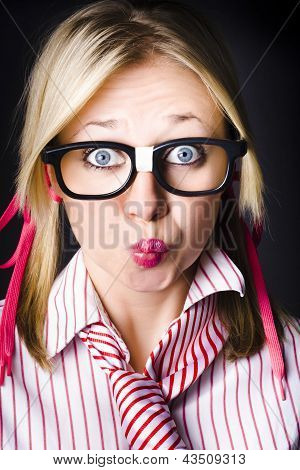 Surprised Business Woman With Thinking Expression