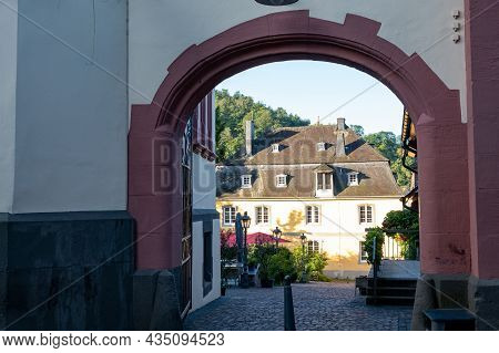 Walking In Mosel River Valley, Houses Of Old Town Traben-trarbach, Germany