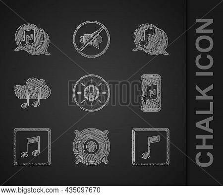 Set Dial Knob Level Technology Settings, Stereo Speaker, Music Note, Tone, Player, Streaming Service