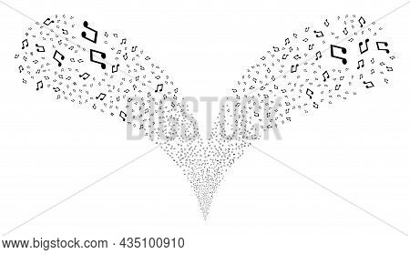 Music Notes Double Fireworks Fountain. Music Notes Festive Double Fountain. Object Fountain Is Organ